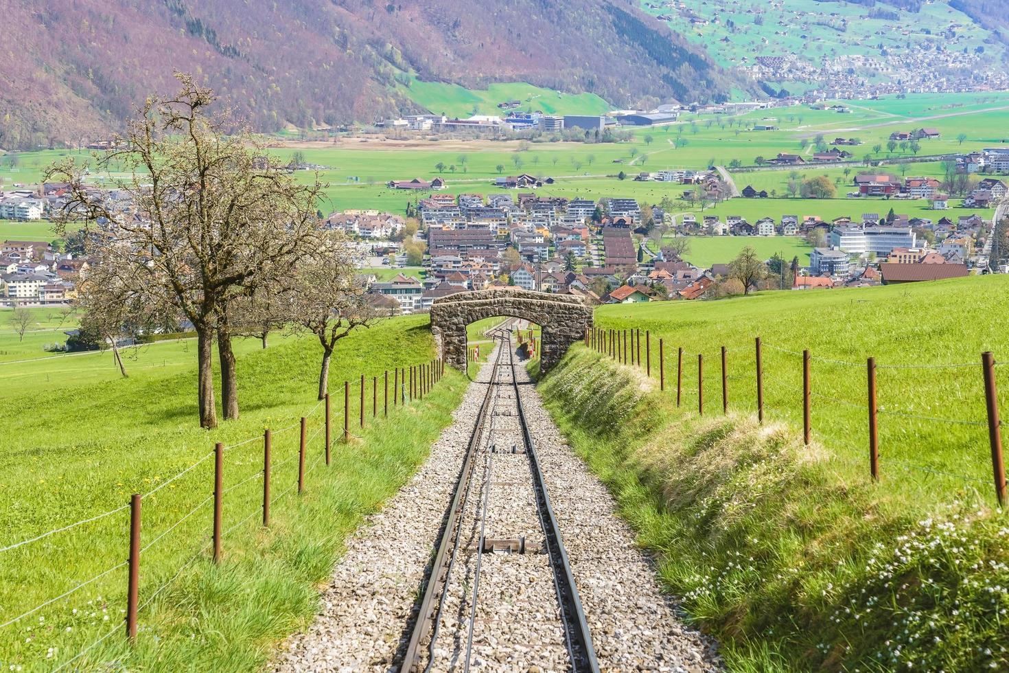 ferrovia a mt. stanserhorn, svizzera foto