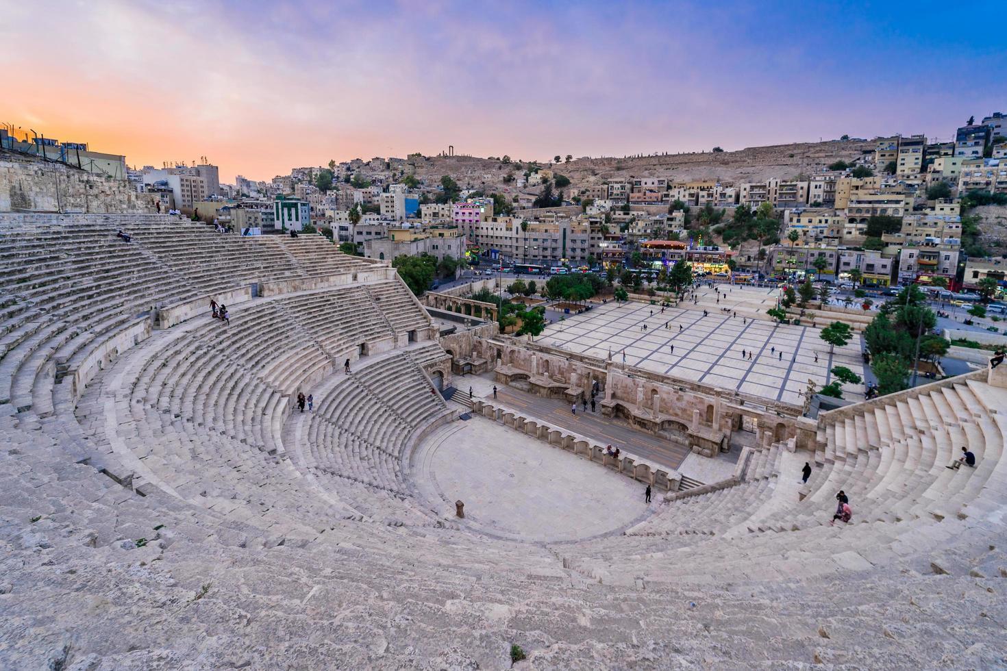 teatro romano di amman. giordania, 2018 foto