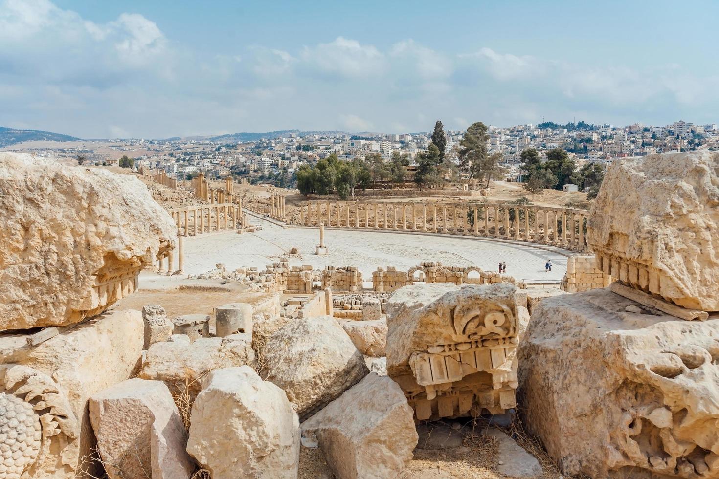 forum in gerasa, attuale jerash, giordania foto