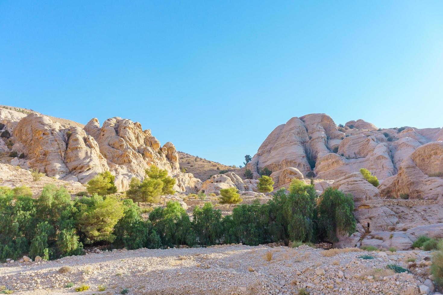 paesaggio a petra, giordania foto