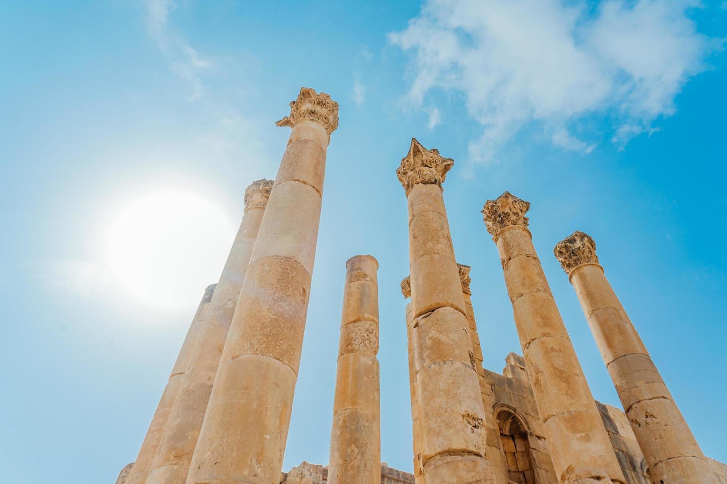 tempio di artemide a gerasa, l'attuale jerash, giordania foto