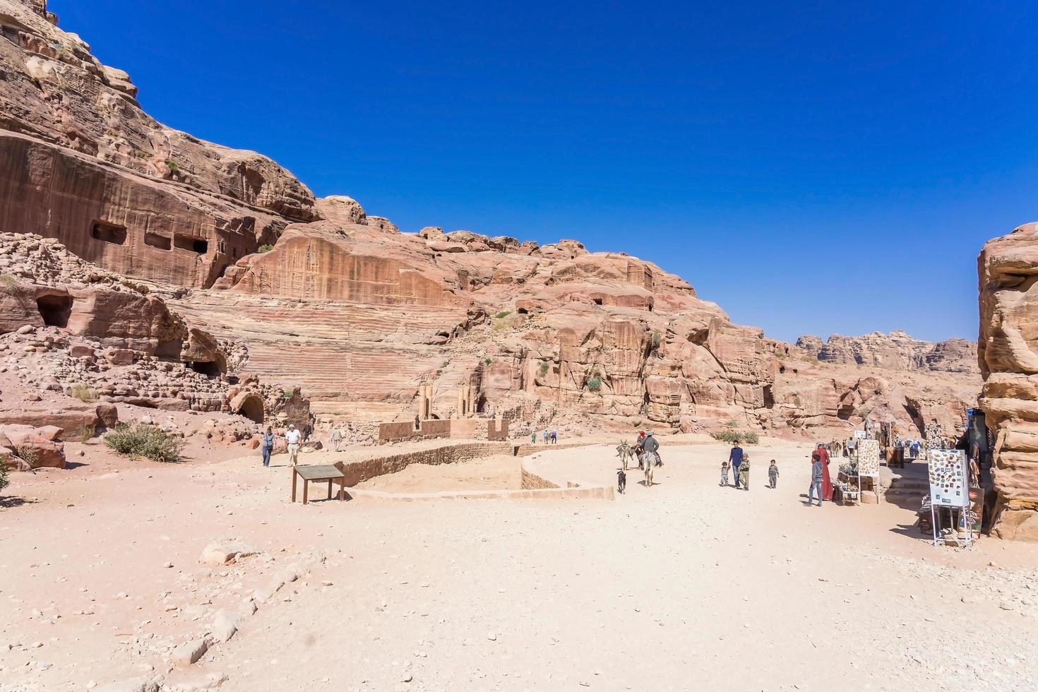 teatro antico di petra, giordania, 2018 foto