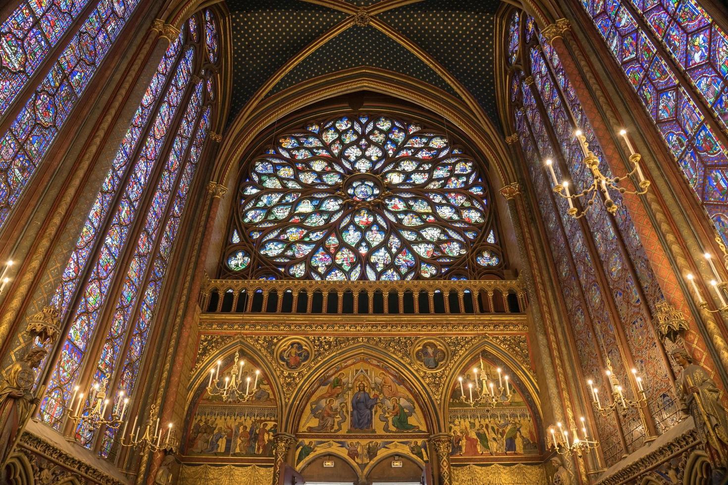 la sainte chapelle a parigi, francia foto