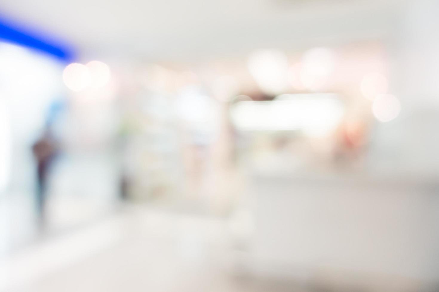 sfocatura astratta sfondo del centro commerciale foto