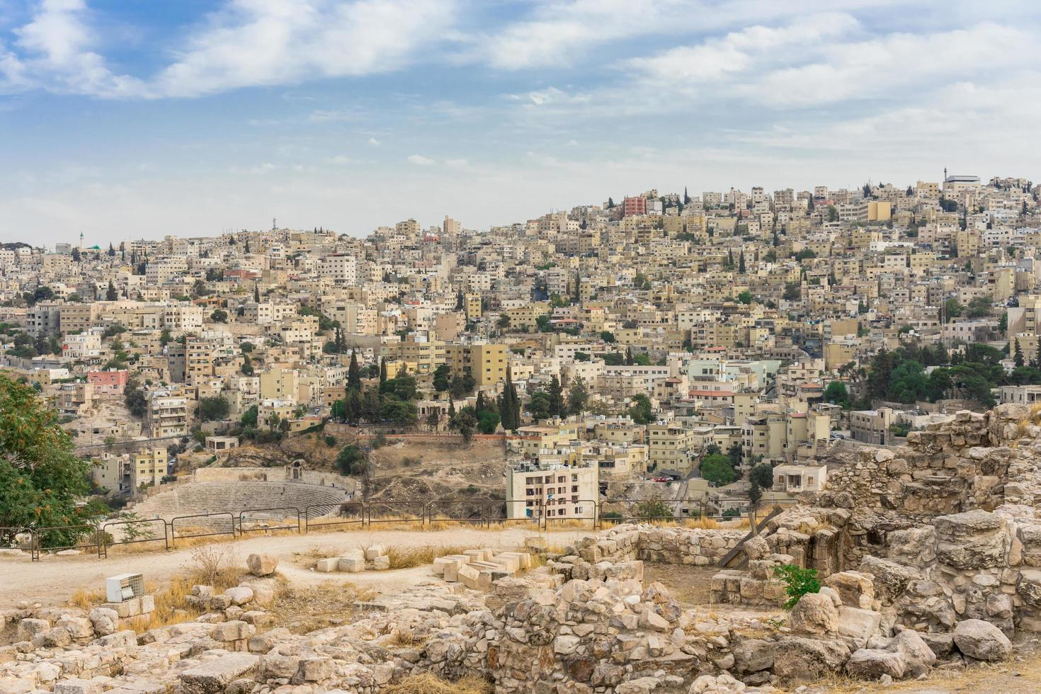 paesaggio urbano del centro di amman, giordania foto