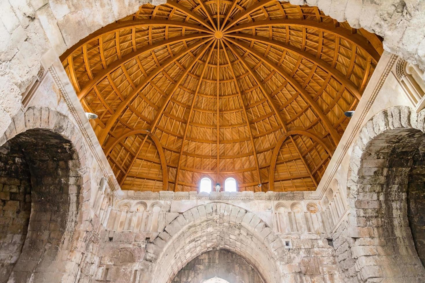 interno del palazzo degli omayyadi della cittadella di amman, giordania foto