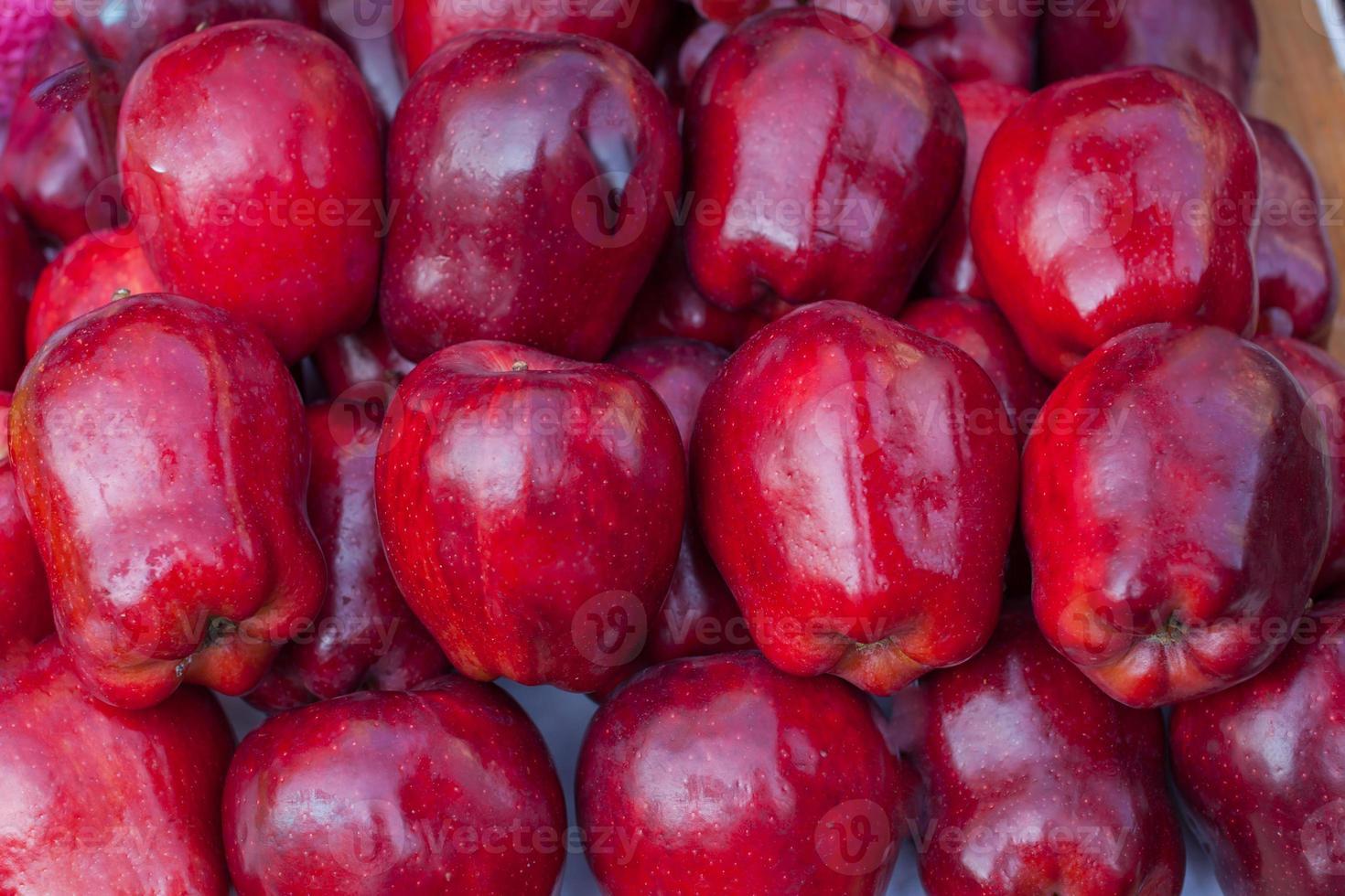 primo piano di mele rosse foto