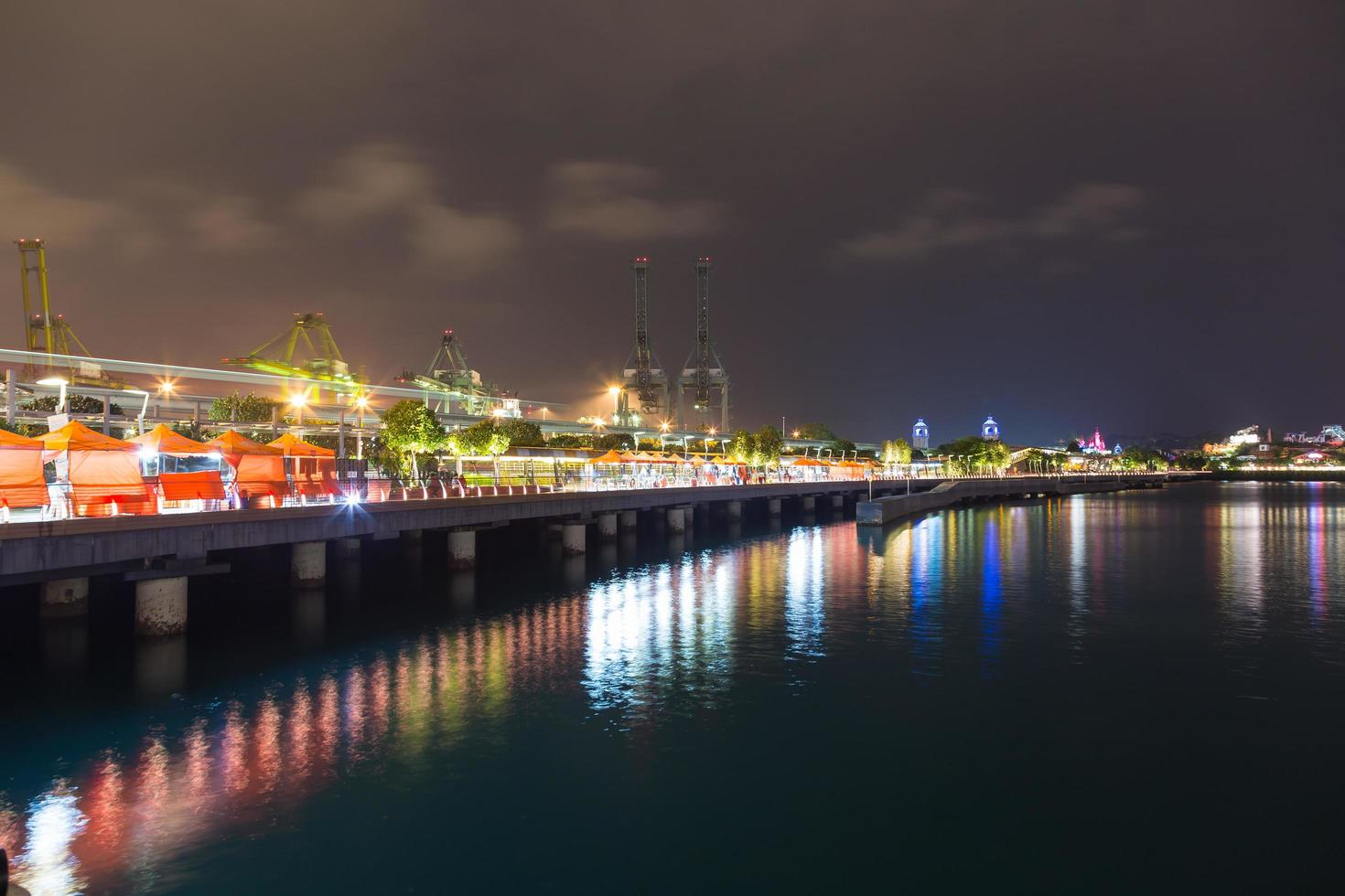 Singapore di notte foto