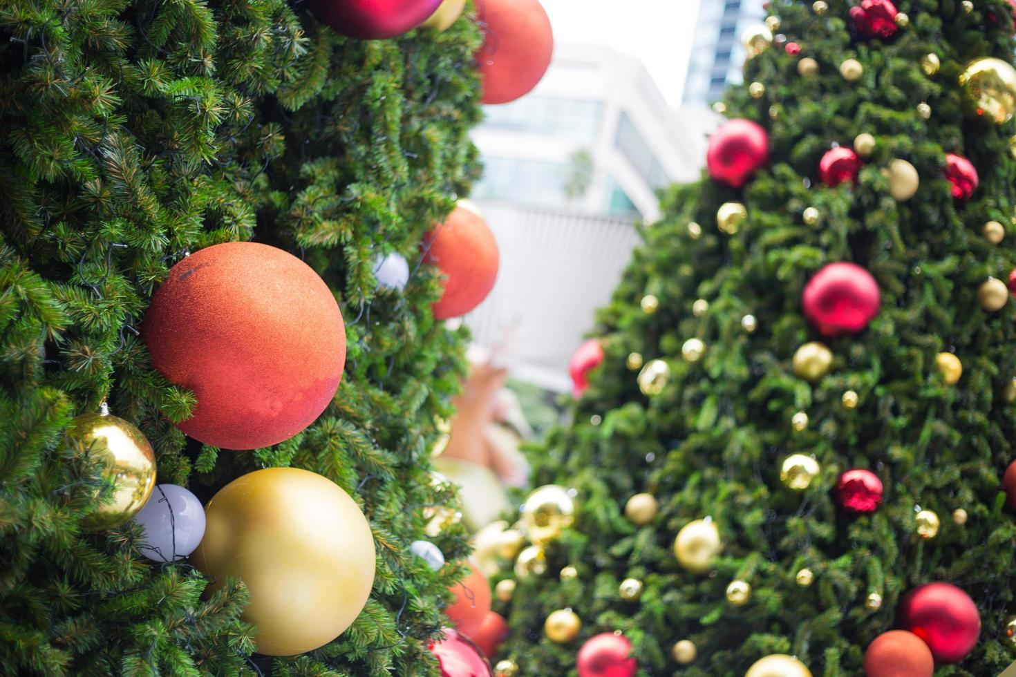 palle di decorazione natalizia foto