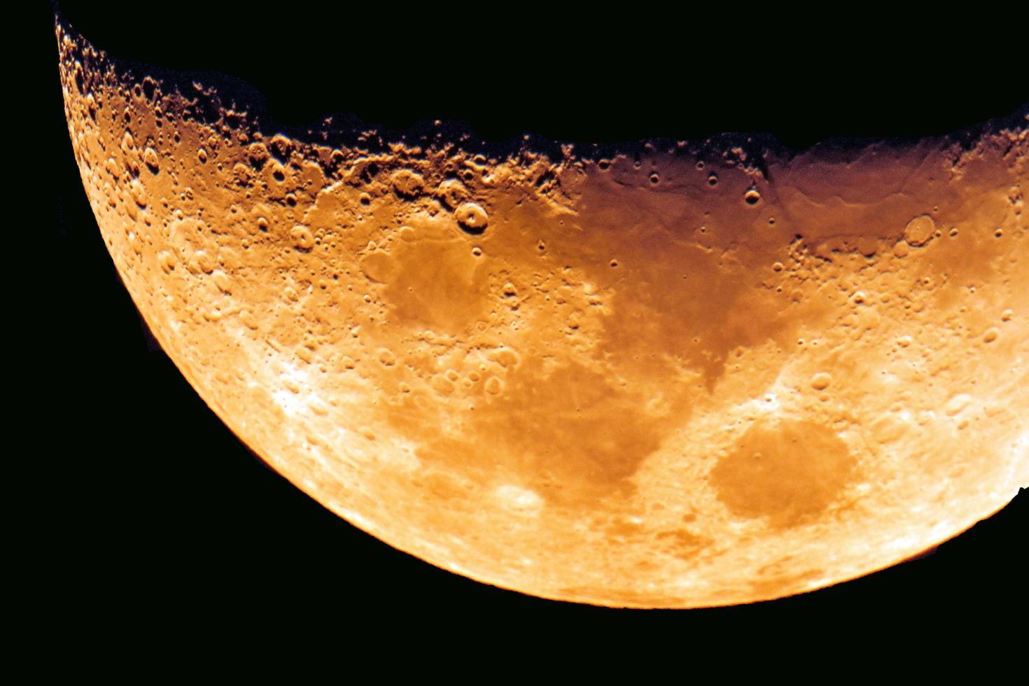 superficie della luna foto