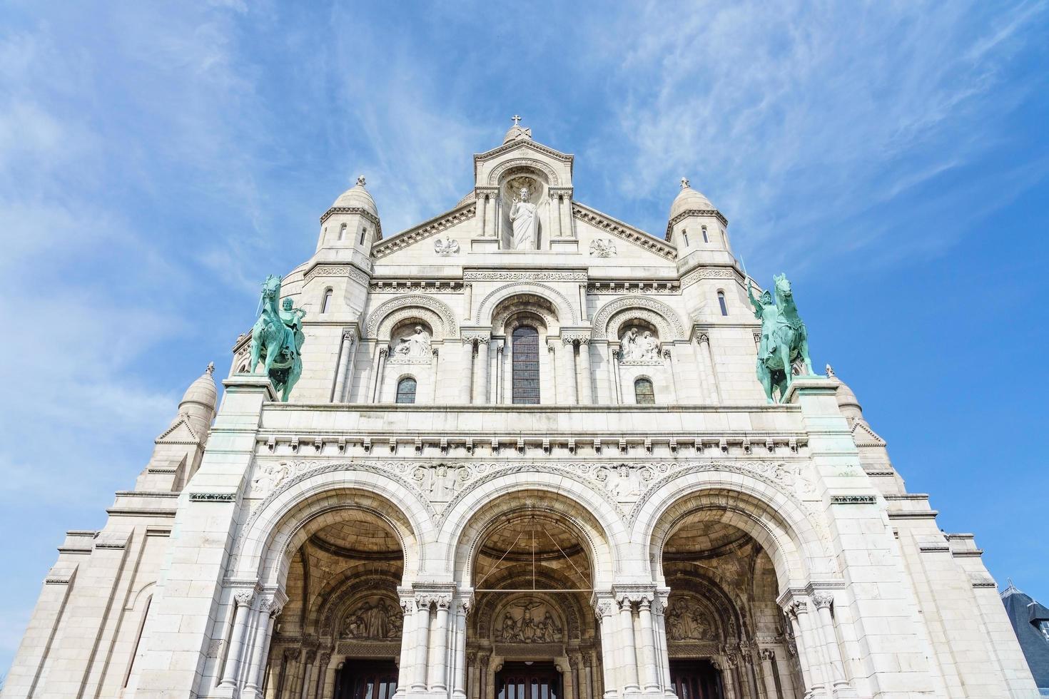 basilica del sacro cuore di parigi a parigi, francia foto