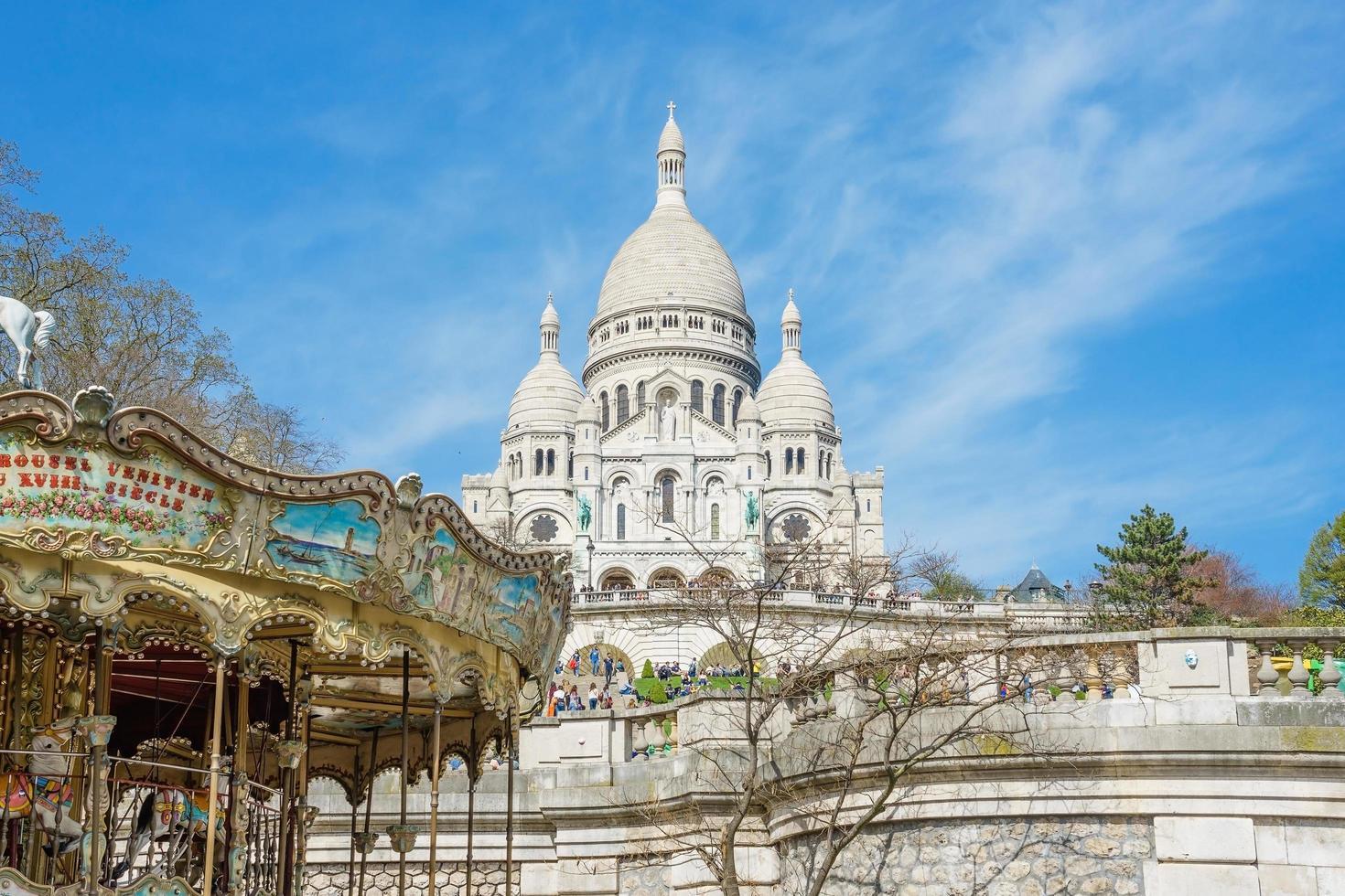basilica sacre coeur a montmartre, parigi foto