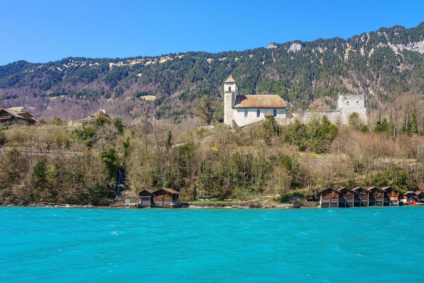 città di brienz sul lago di brienz da interlaken, svizzera foto