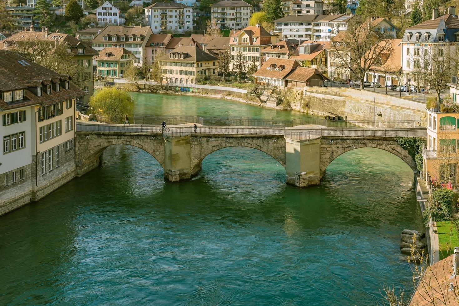 vista del centro storico della città di Berna, Svizzera foto