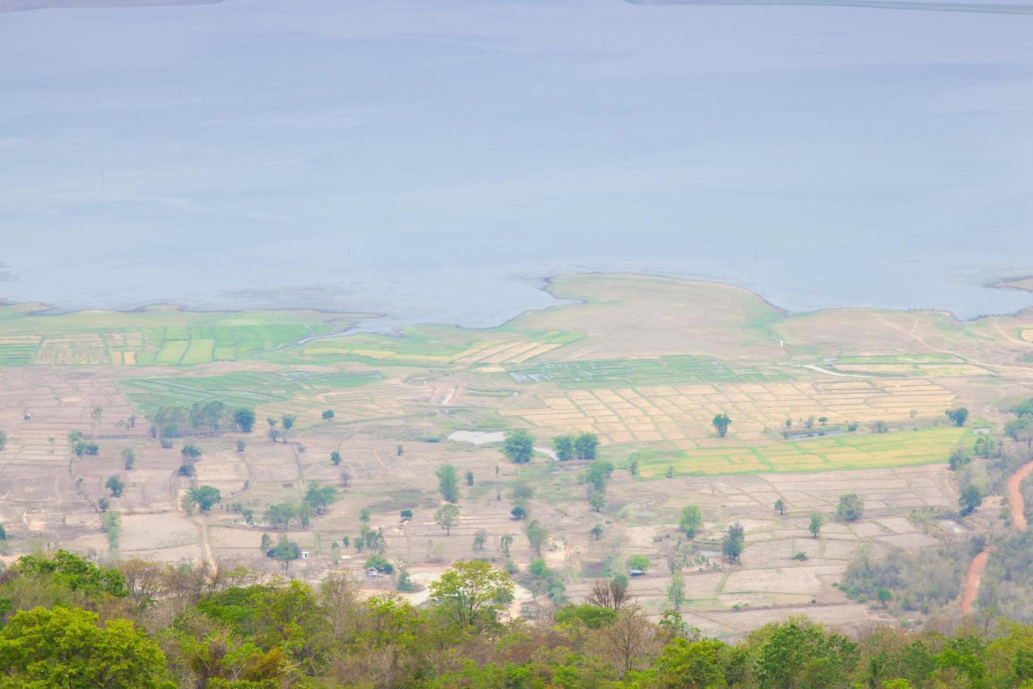 punto di vista sulla cima della montagna foto