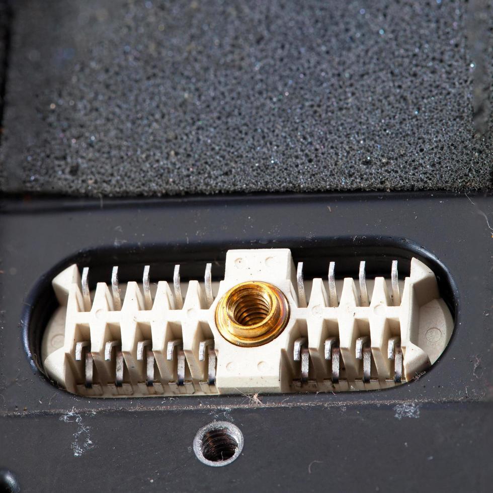 primo piano del circuito elettronico foto