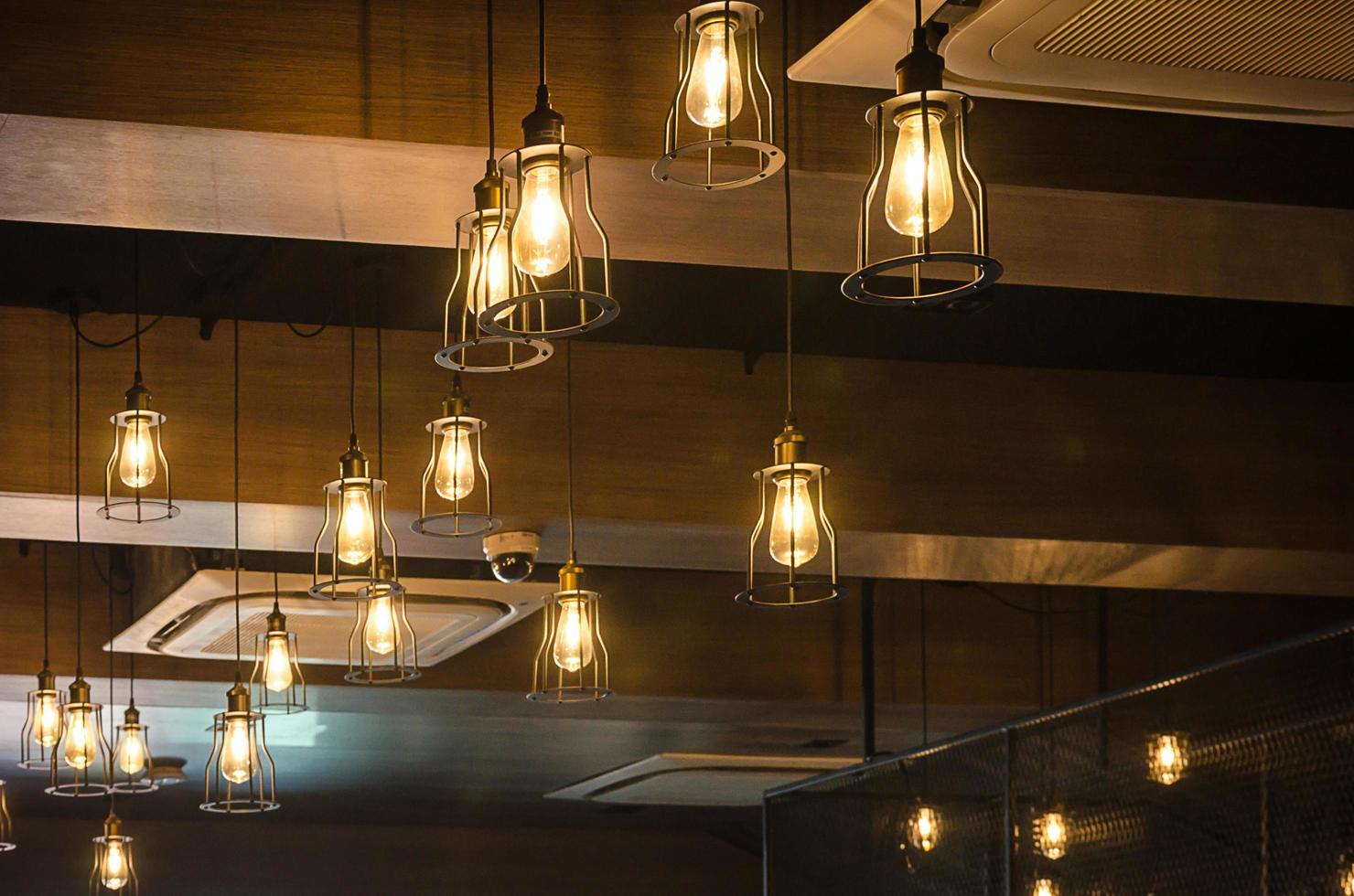 lampada di illuminazione interna di lusso vintage per la decorazione domestica foto