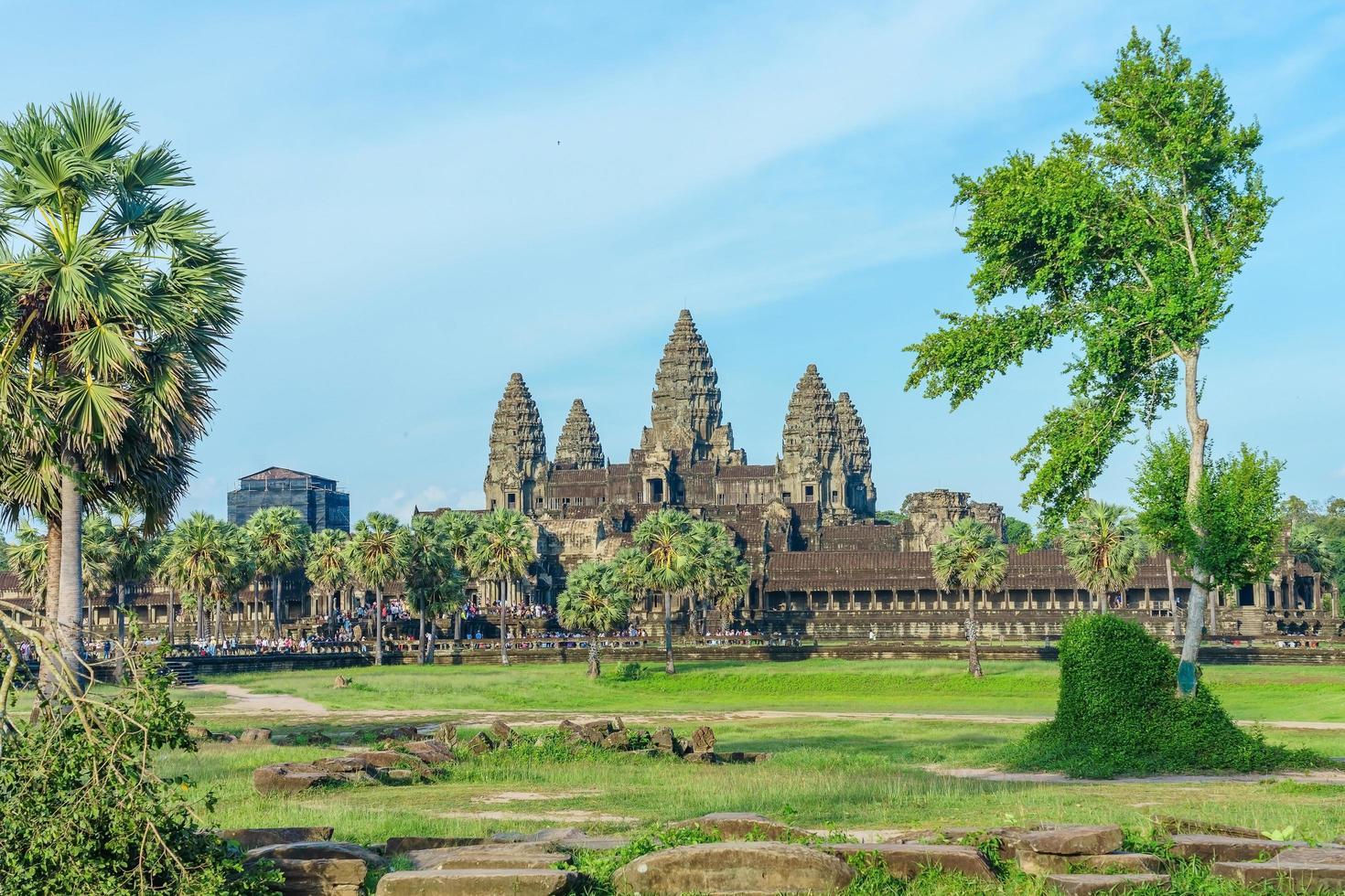antico tempio di angkor wat, siem reap, cambogia foto