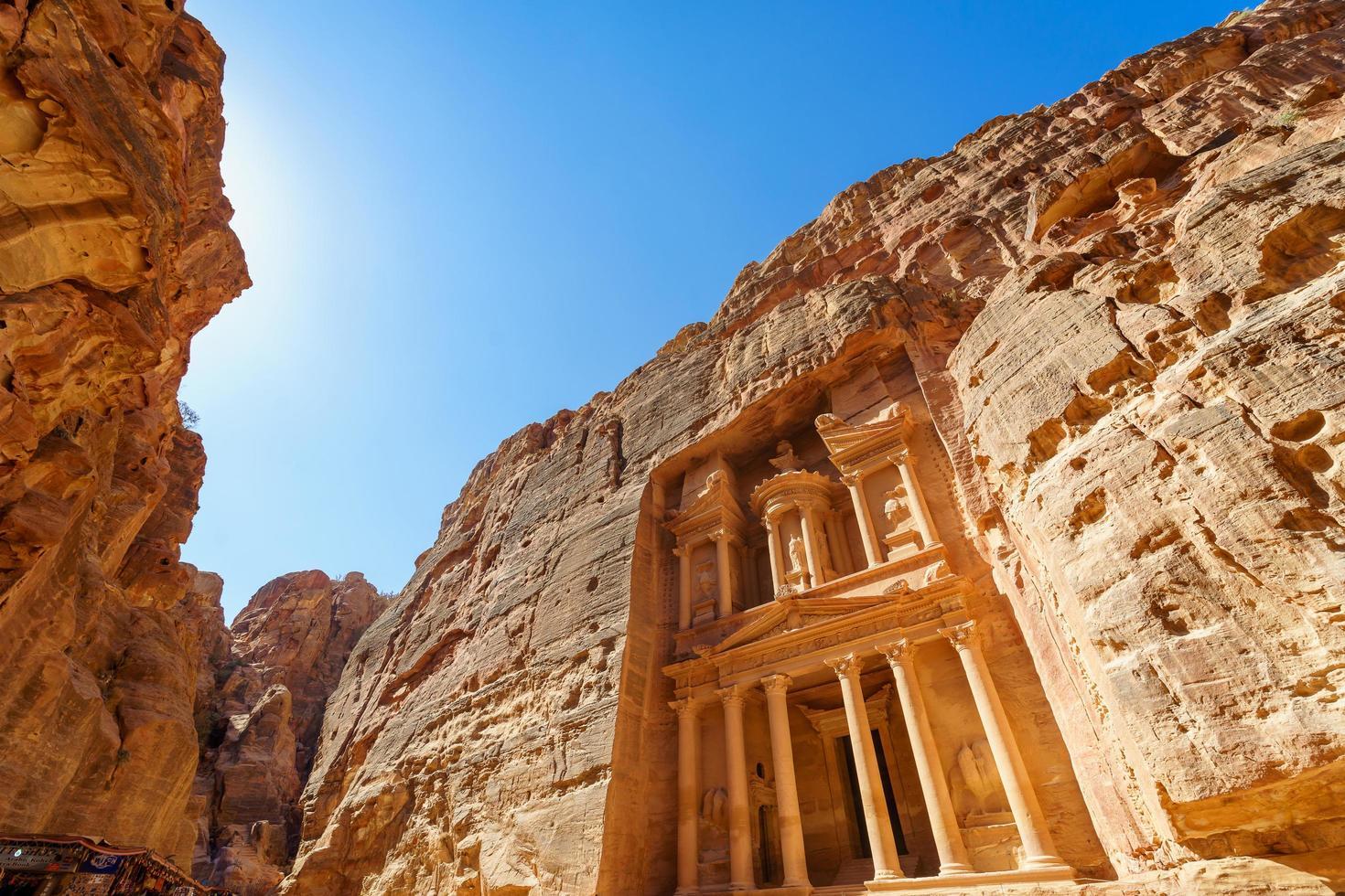 al khazneh o il tesoro di petra, giordania foto