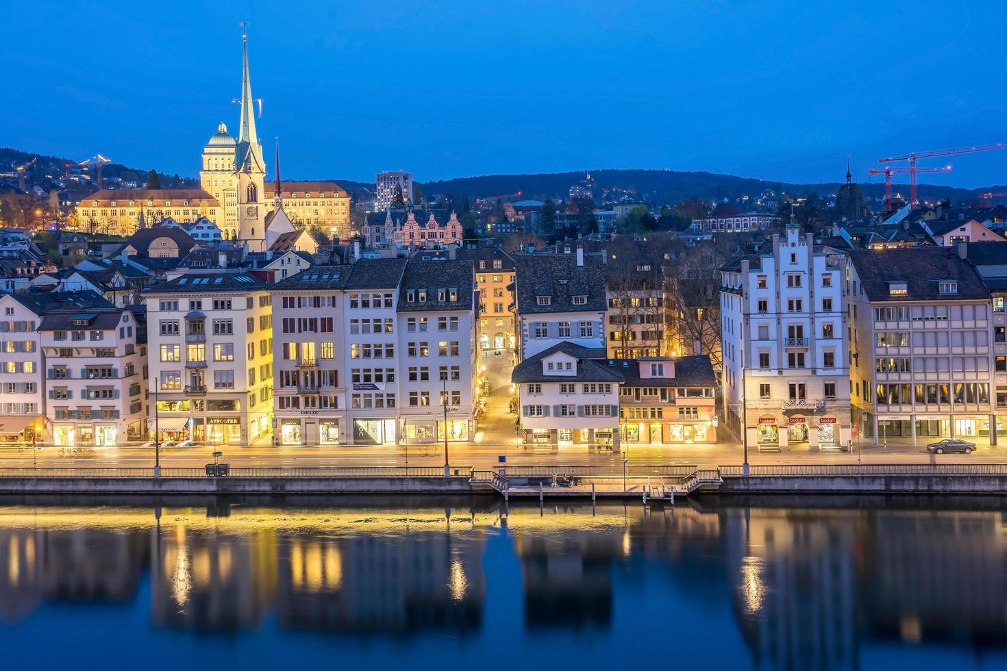 vista di zurigo, svizzera foto