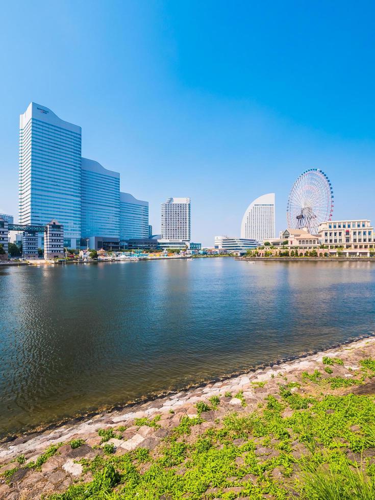 skyline di yokohama in giappone foto