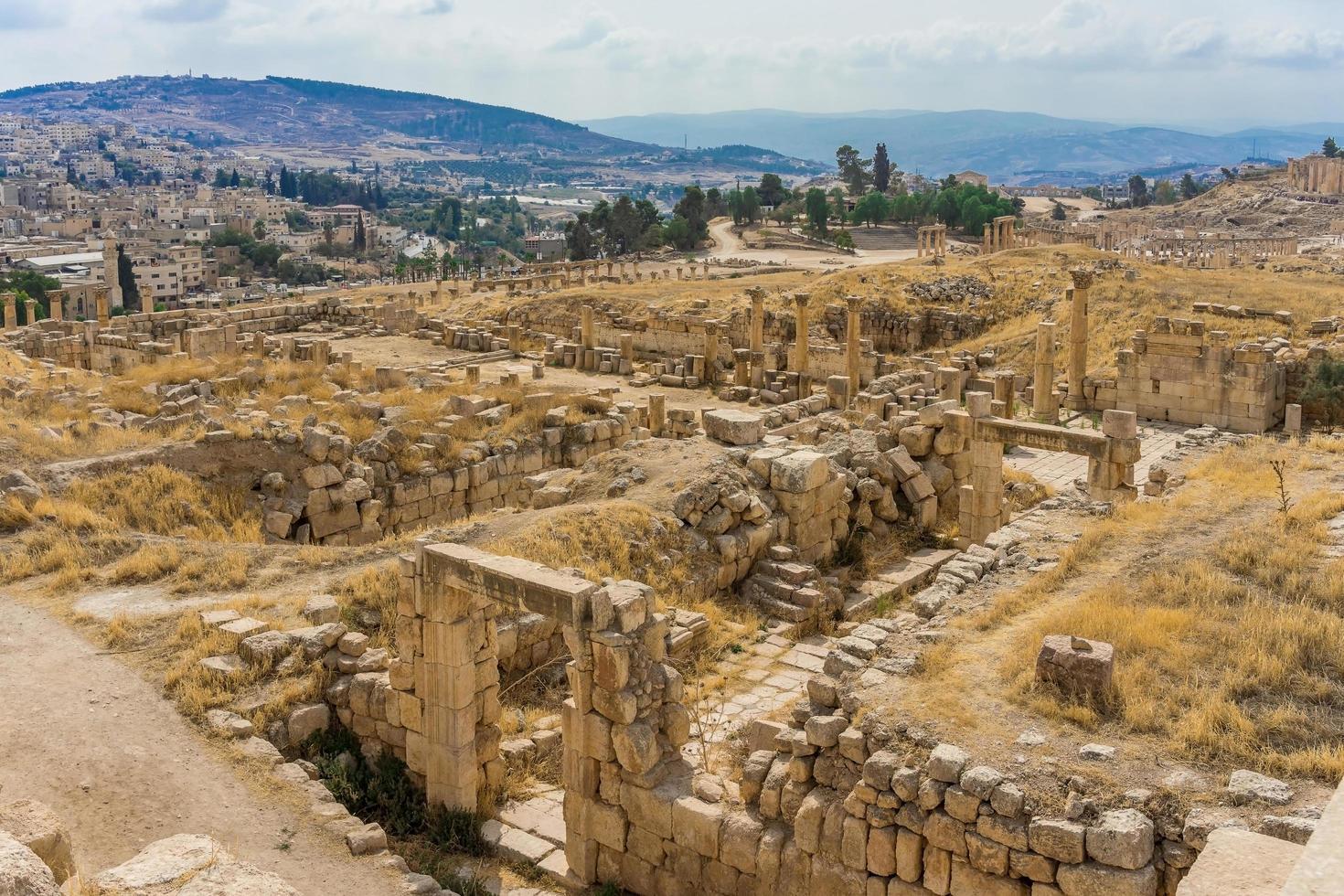 rovine dell'antica città romana di gerasa, giordania foto