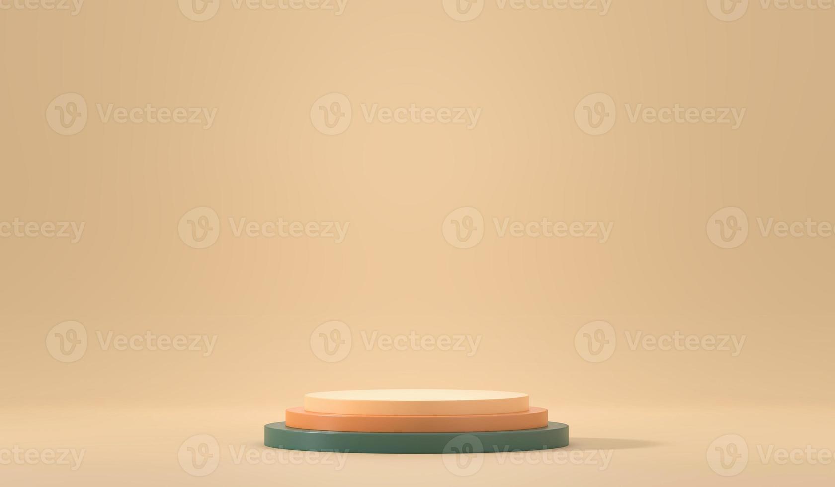 mockup del podio della piattaforma del palco minimo foto