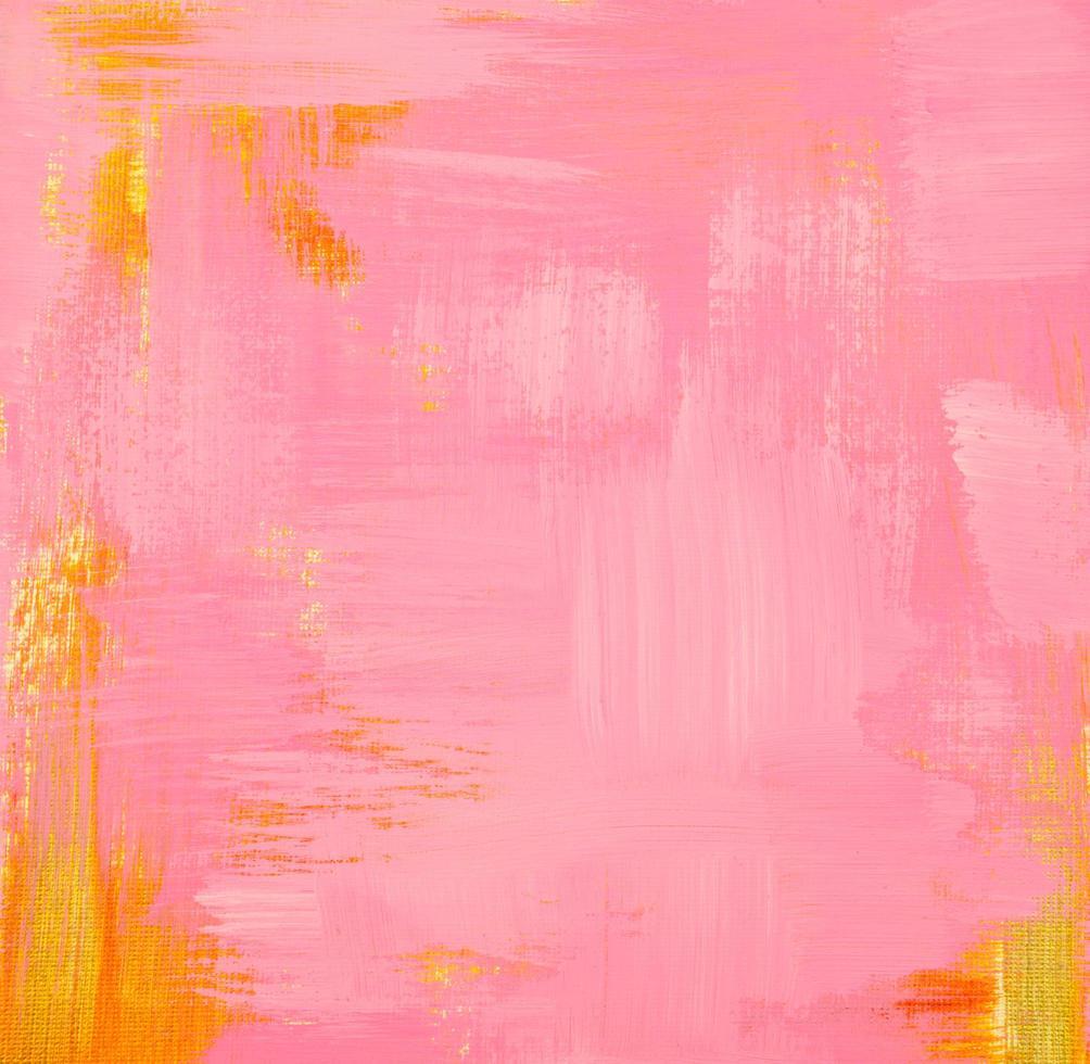 pittura acrilica pastello dorata e rosa su tela opaca foto