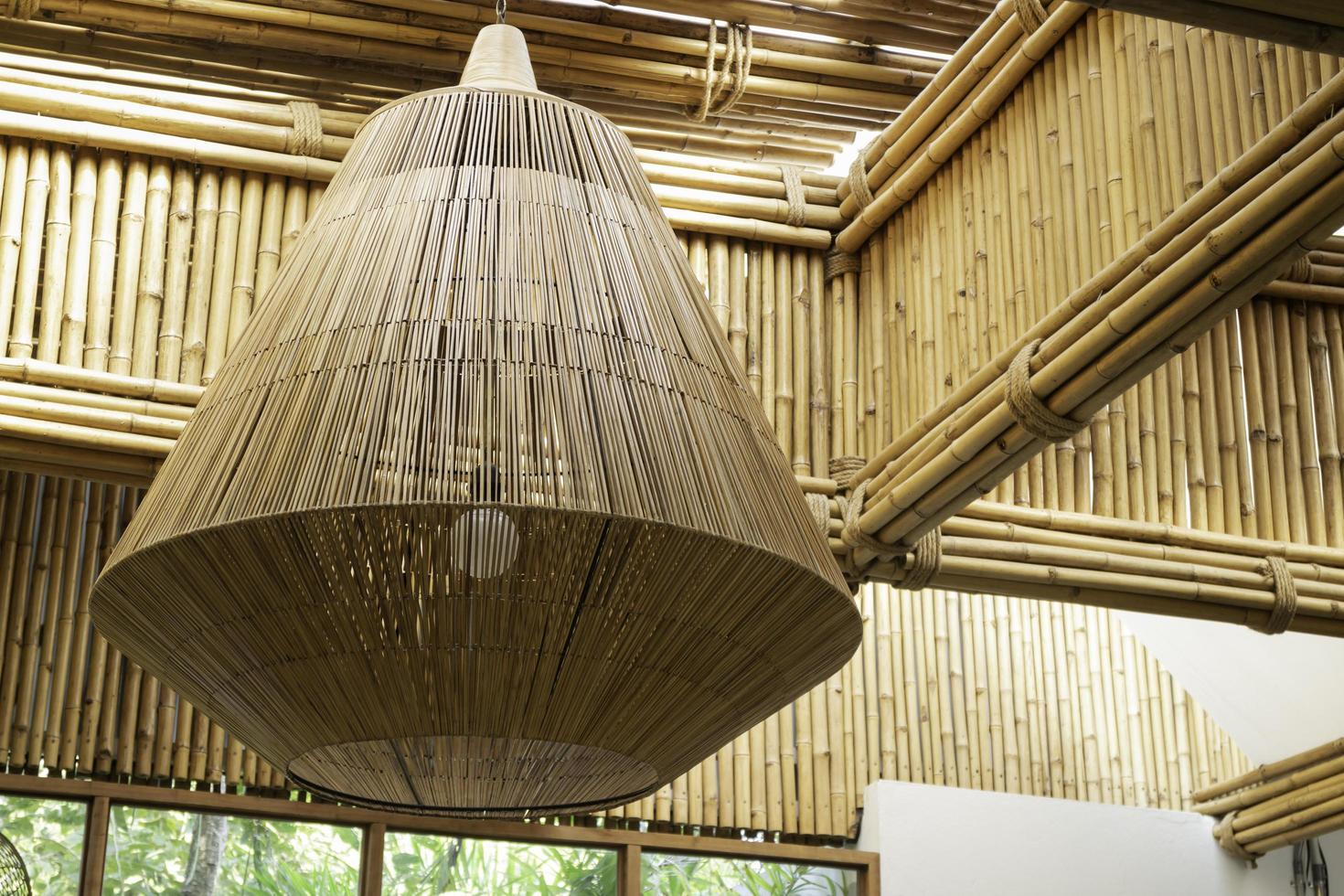 disposizione di illuminazione di bambù foto
