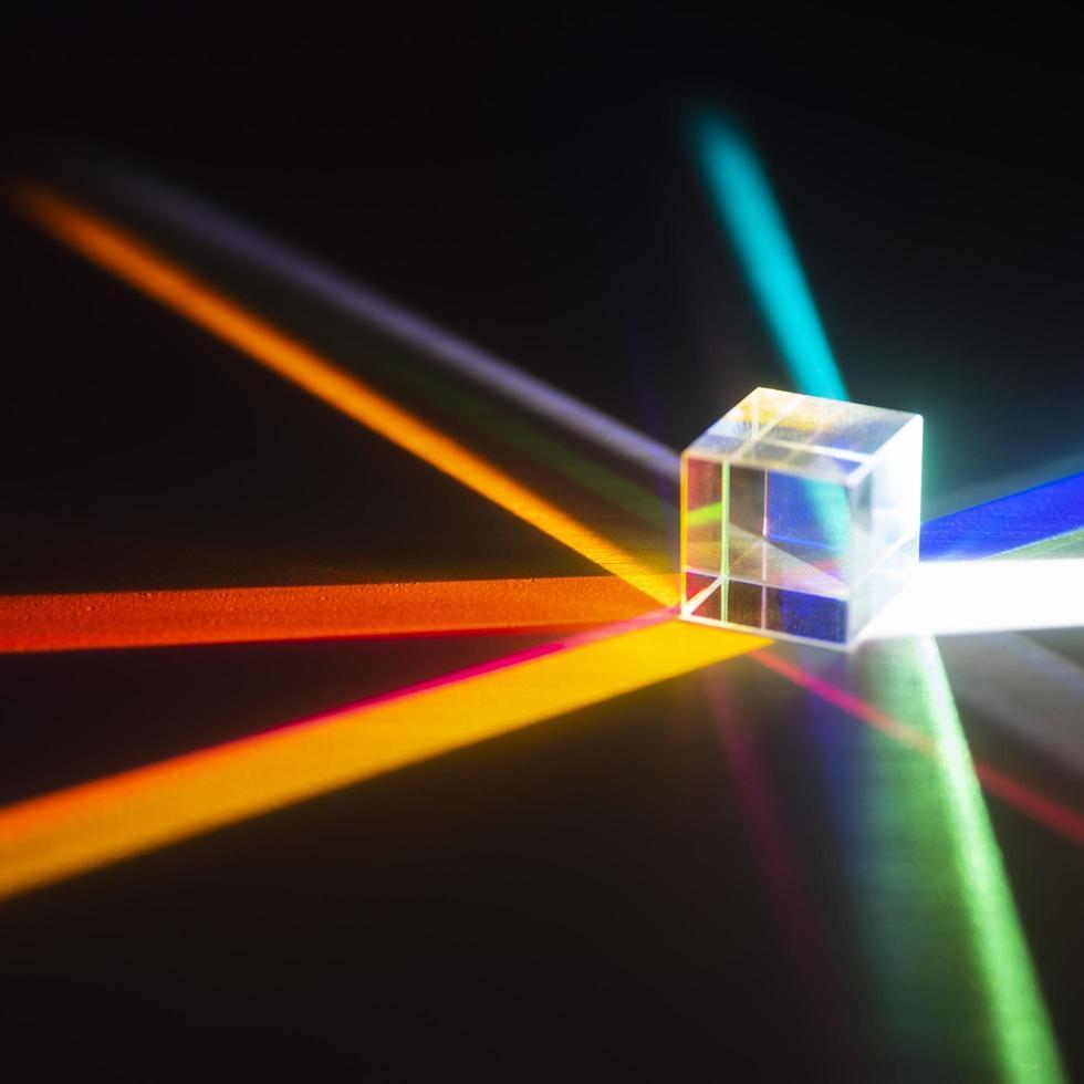 sfondo di riflessione di prismi di luce colorata foto