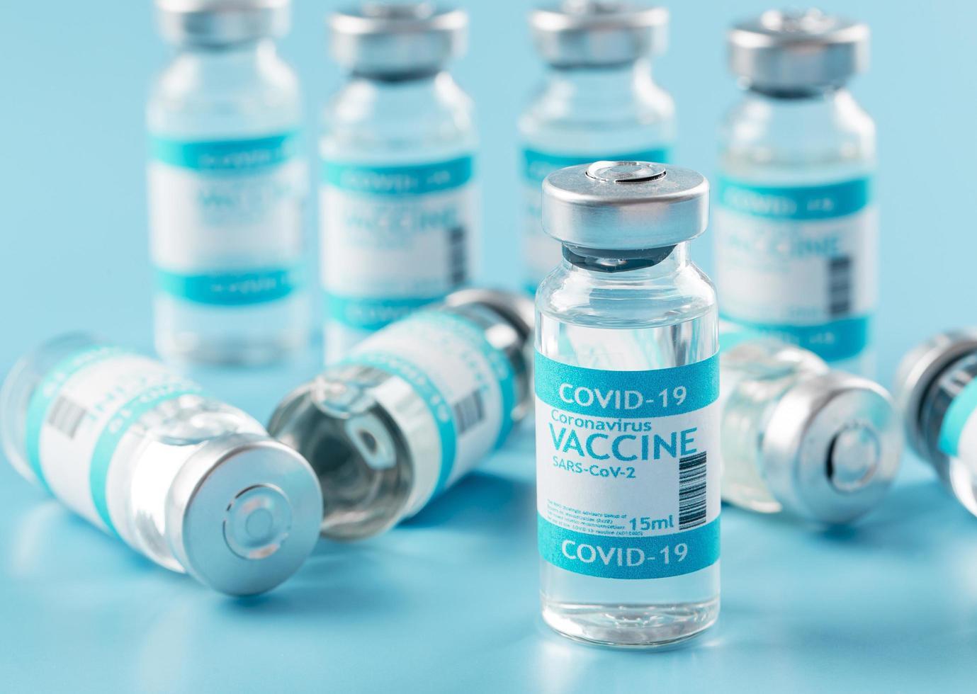 flacone di vaccino preventivo contro il coronavirus foto