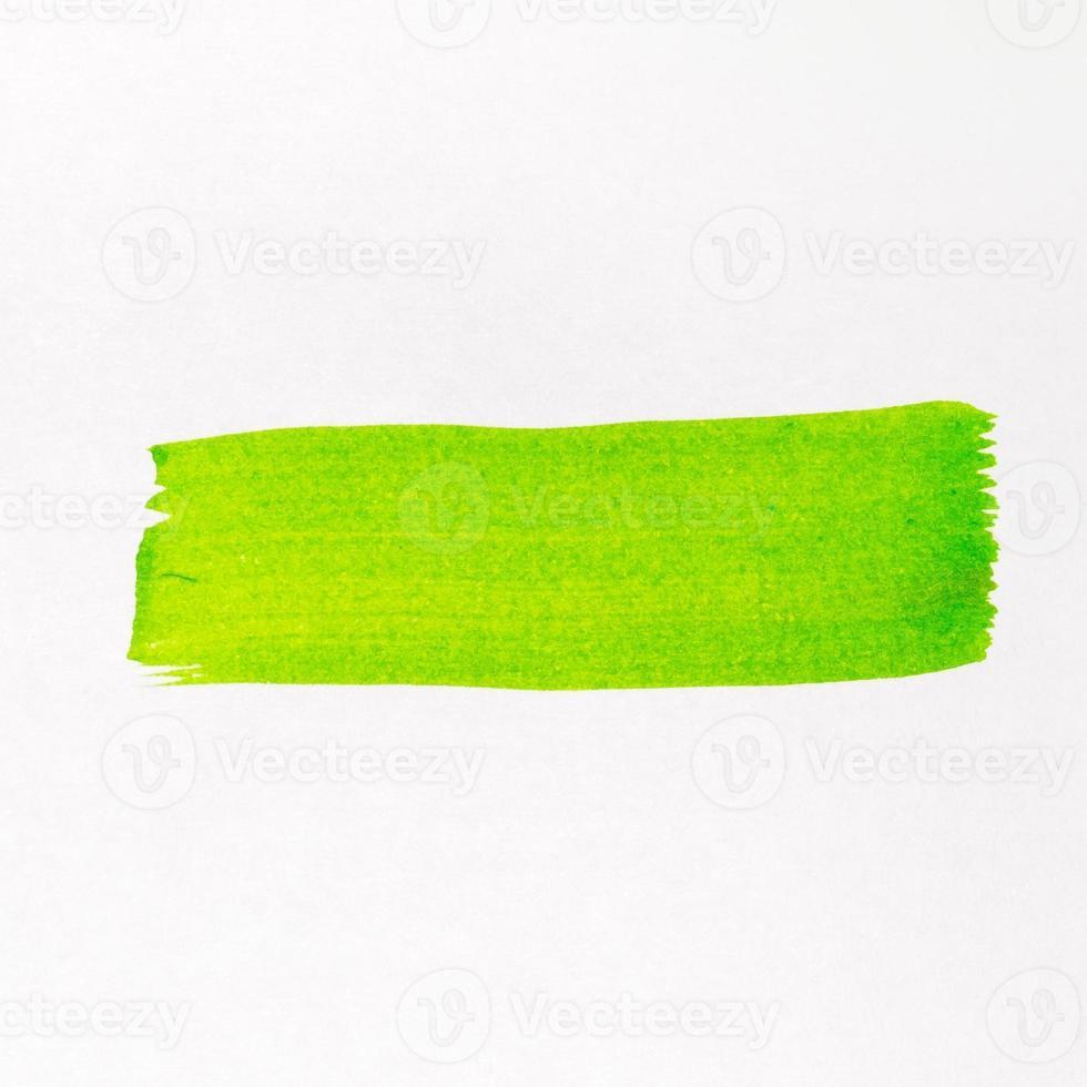 linea di pennello verde, acquerello dipinto foto