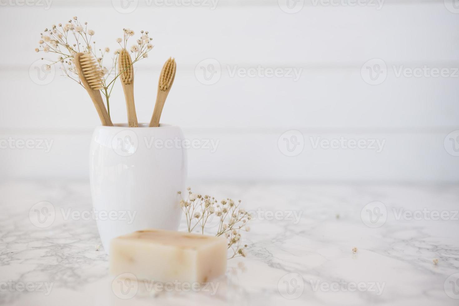 composizione di oggetti spa da bagno foto