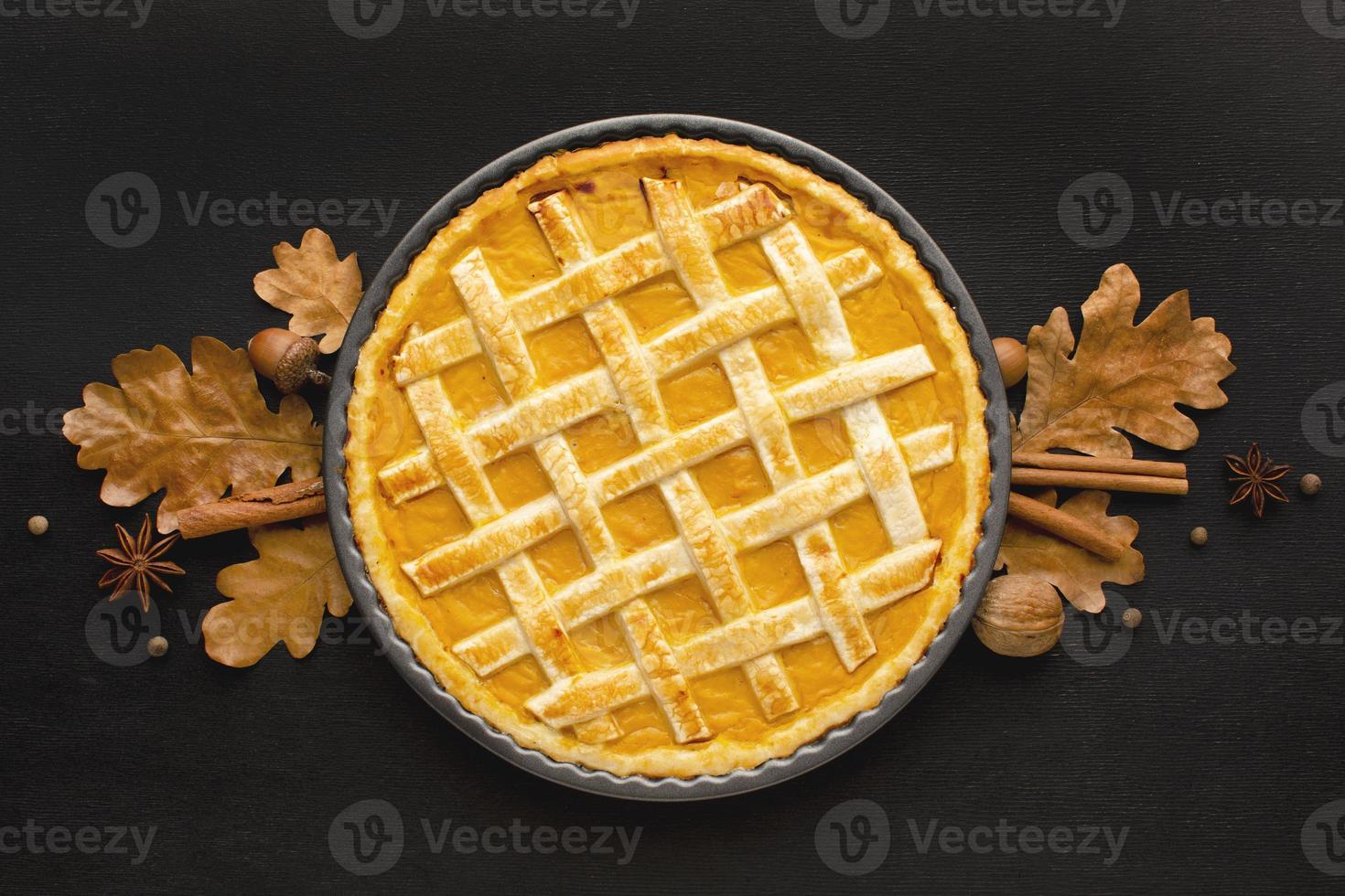 sfondo piatto laici torta di zucca foto