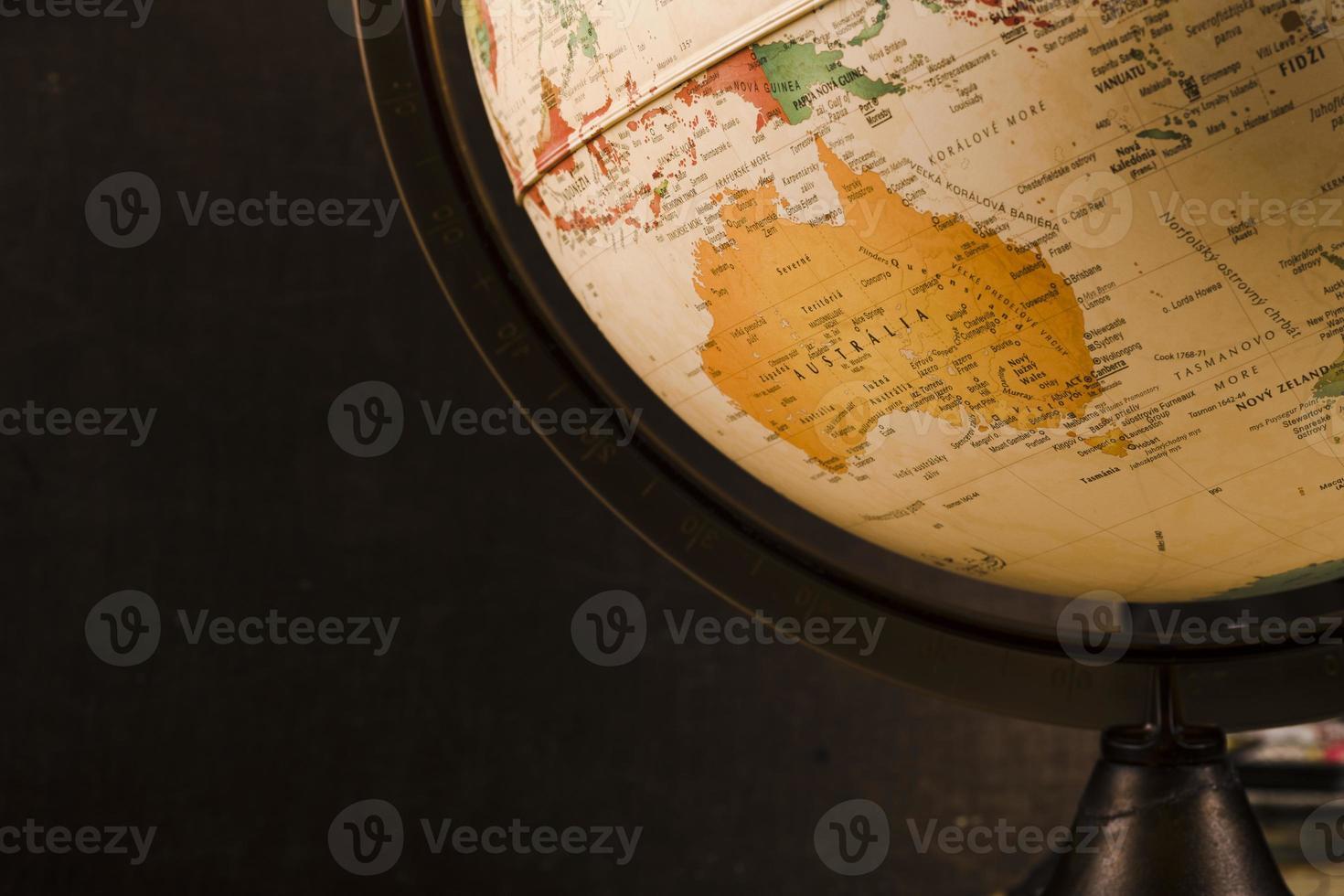 primo piano vintage vecchio globo foto