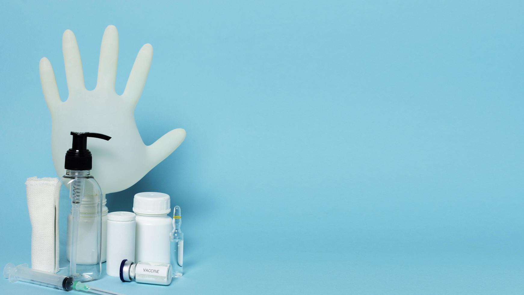 prodotti sanitari e disposizione dello spazio della copia foto