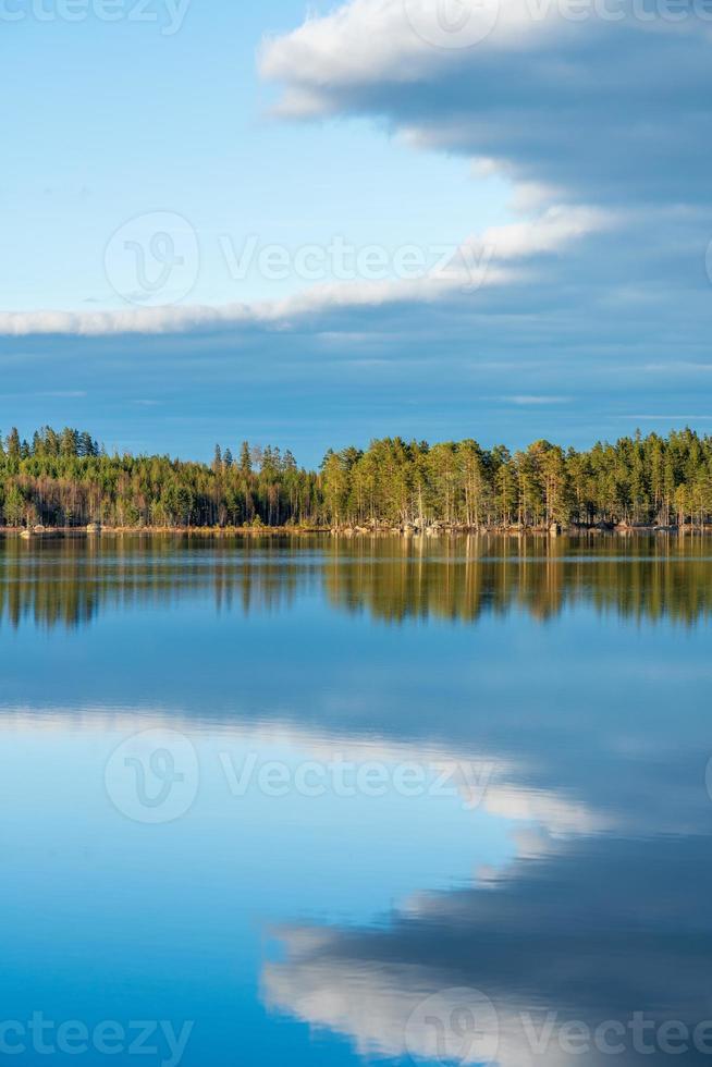 vista estiva su un lago in Svezia foto