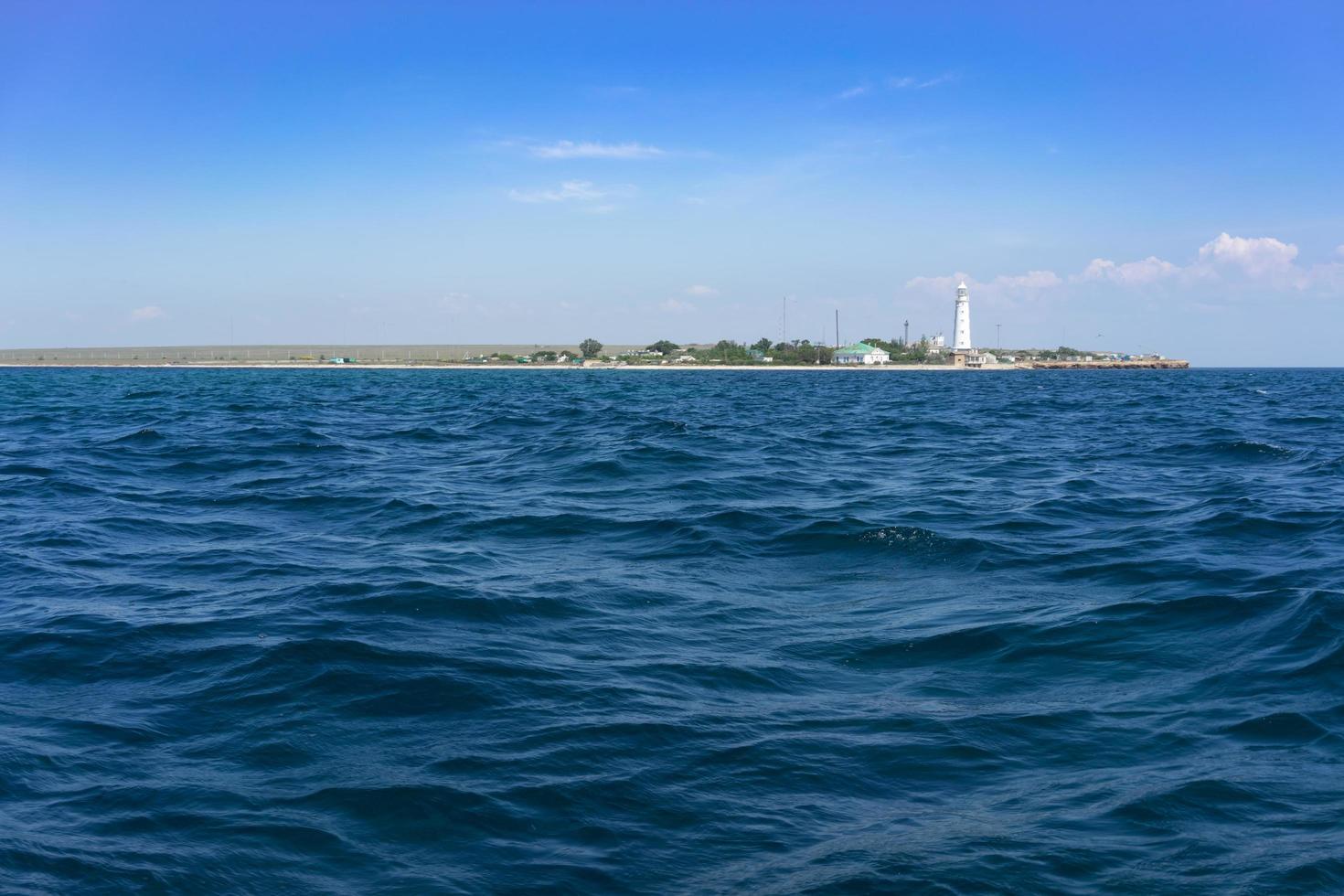 paesaggio marino con vista sul capo tarhankut foto