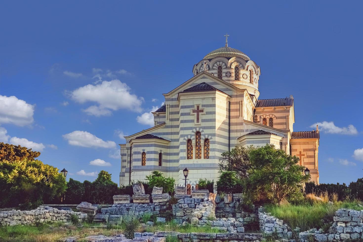cattedrale di vladimir a cherson - la chiesa ortodossa foto