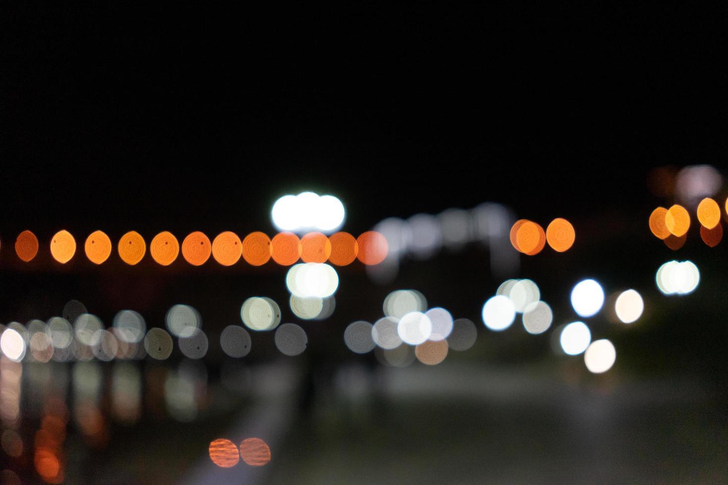 sfondo notturno astratto con bokeh luminoso foto