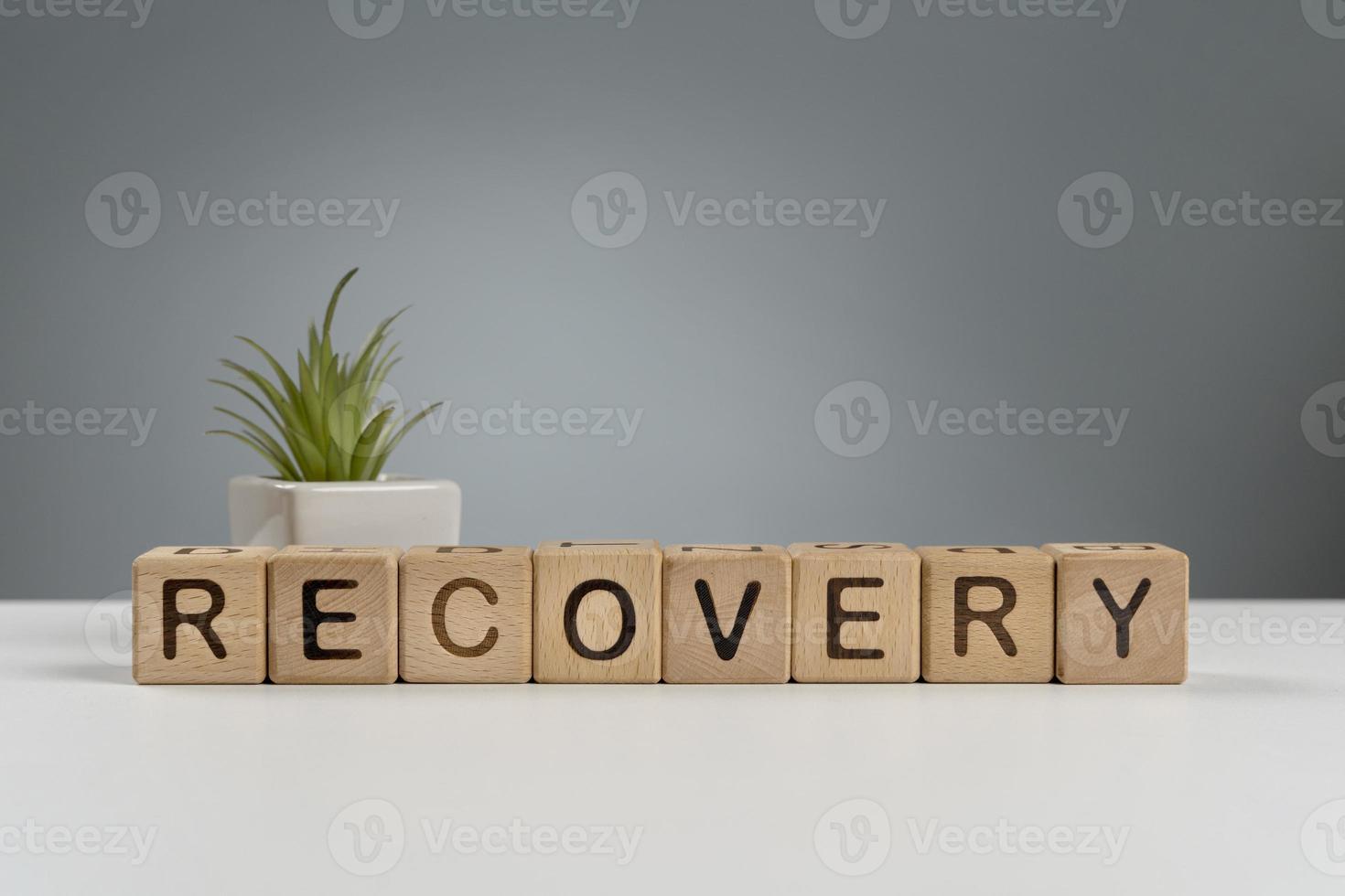 messaggio di economia di ripresa foto