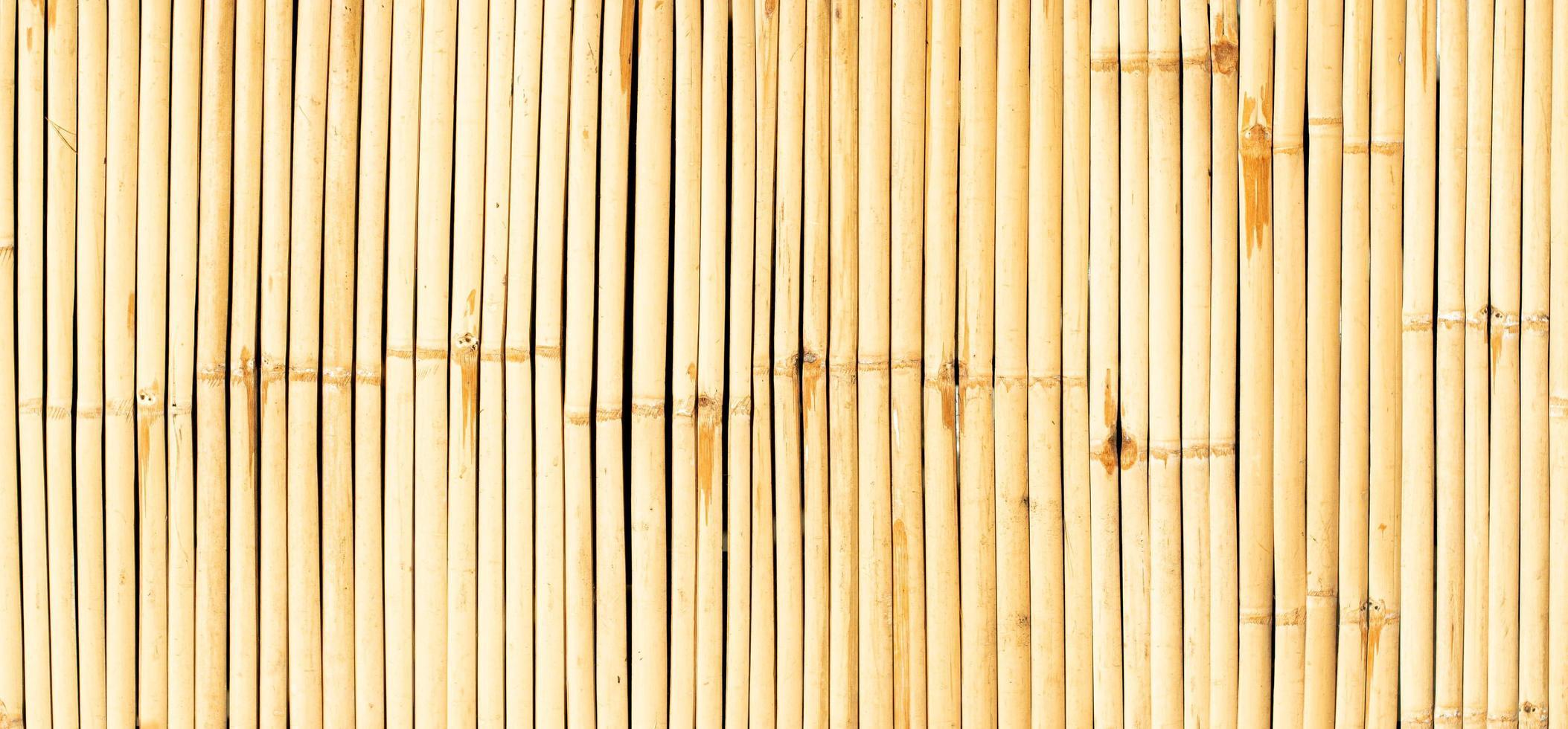 sfondo trasparente di bambù muro giallo foto