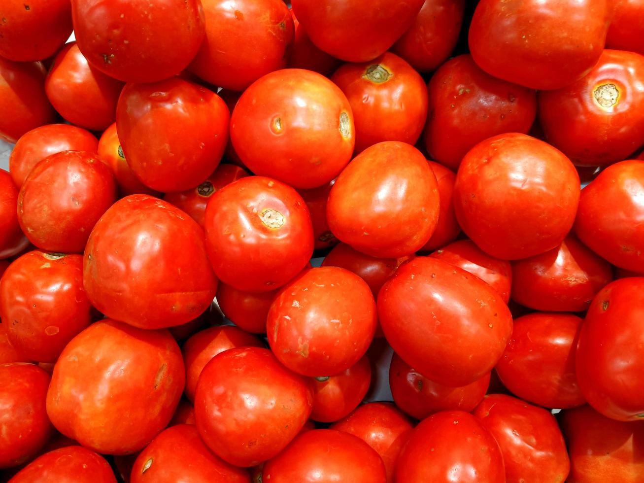 pomodori freschi cibo sano sfondo foto
