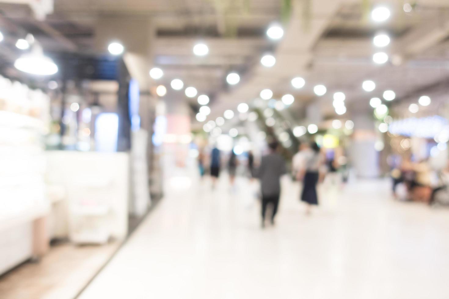 sfocatura astratta centro commerciale foto