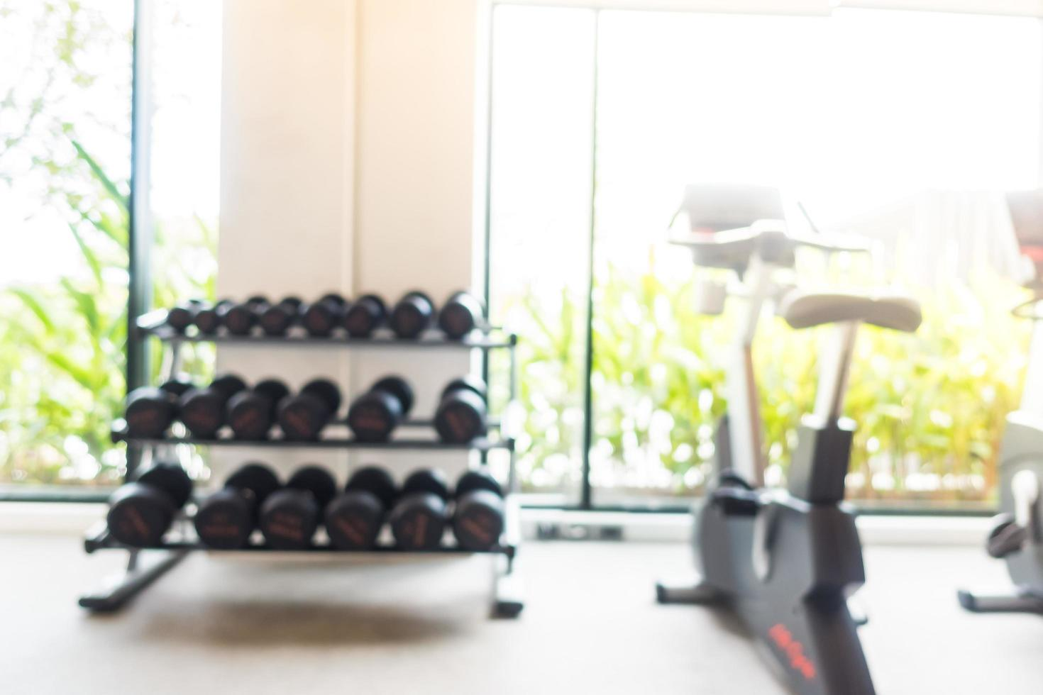 sfocatura astratta palestra e sala fitness foto
