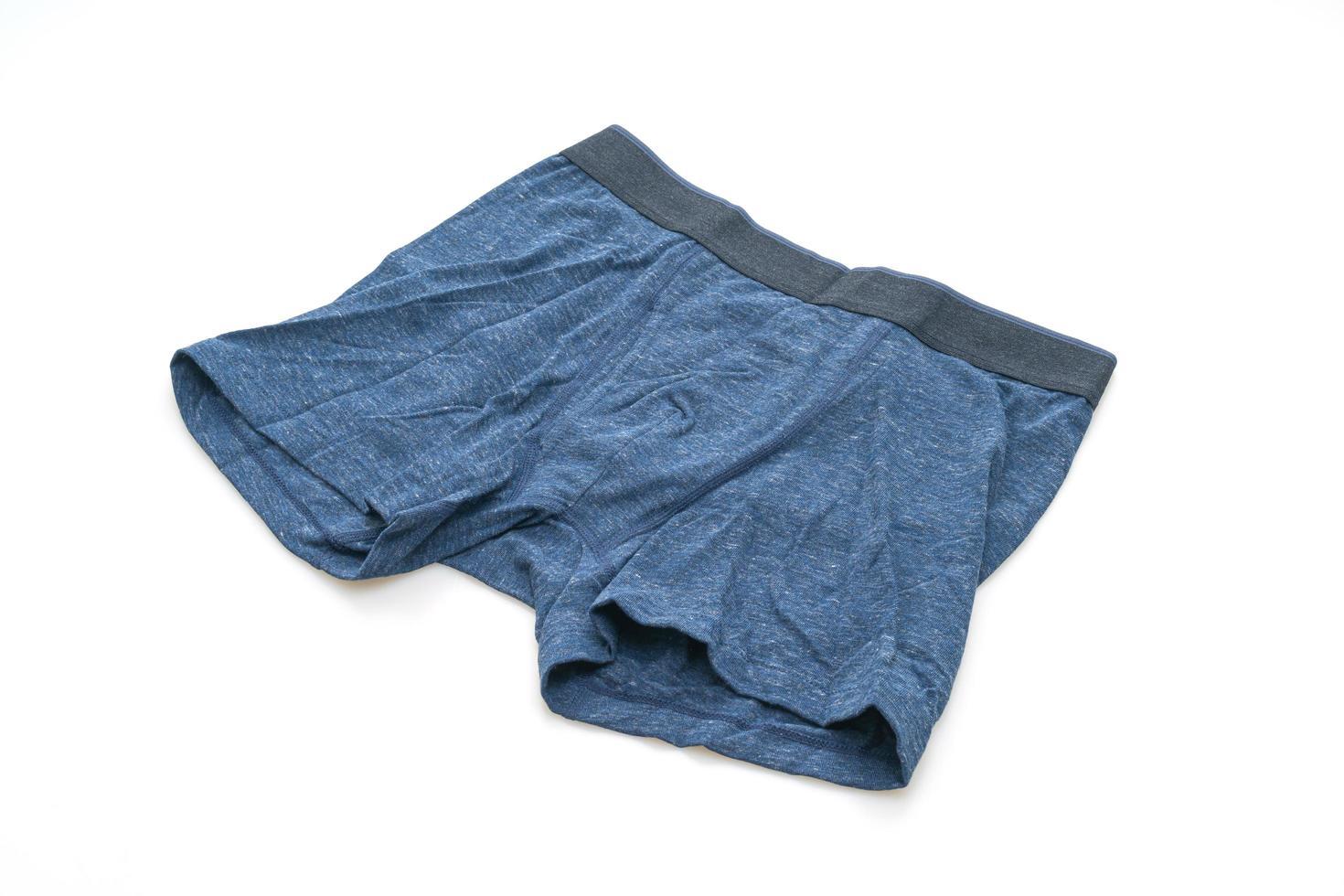biancheria intima da uomo blu isolata su sfondo bianco foto