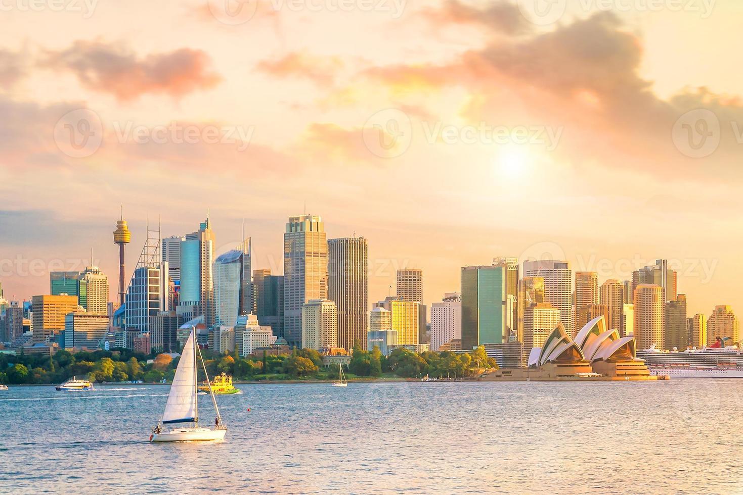 skyline del centro di sydney foto