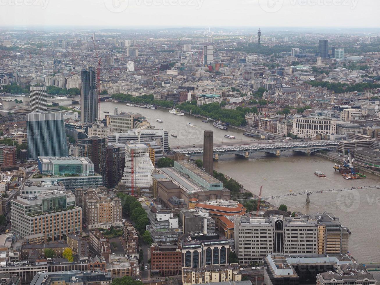vista aerea di londra foto