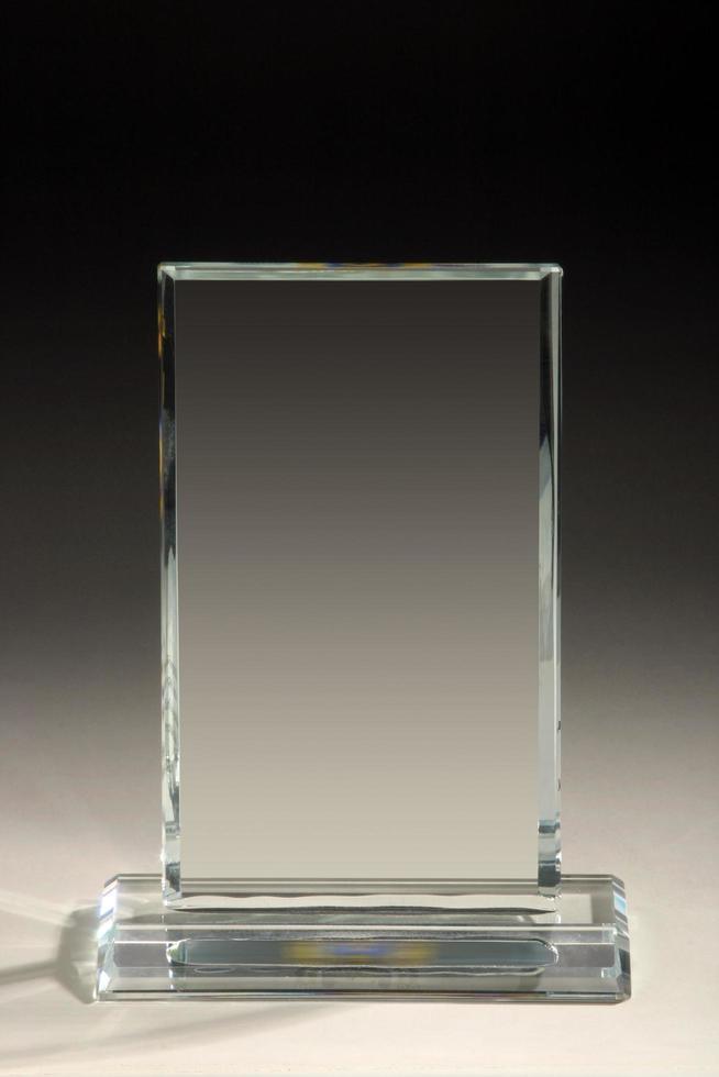 premio trofeo in vetro bianco trasparente in acrilico, cristallo o vetro foto