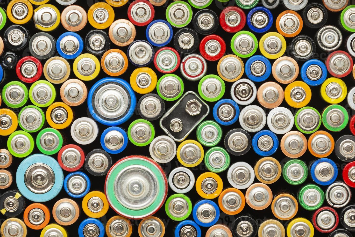 concetto di rifiuti di inquinamento della batteria foto